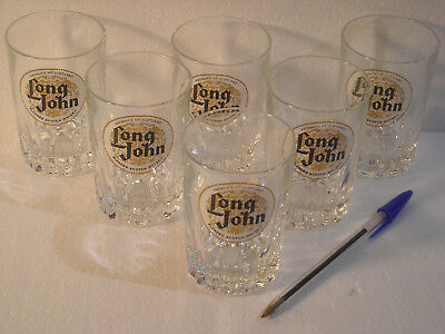 LOT 6 VERRES PUBLICITAIRES ** LONG JOHN ** Scotch Whisky * NEUF