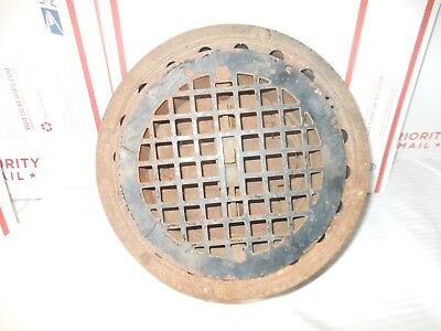 McGuires Thimble Stearns Cast Iron Round Floor Wall Register Vintage PAT'D 1883