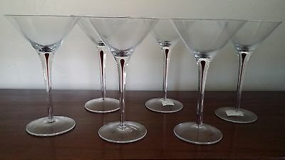 6 Radial Champagne Glasses in new condition