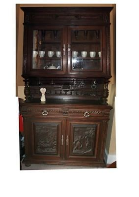 French Antique Oak Carved Dresser / Sideboard / Buffet /hand carved