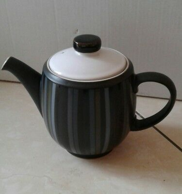 denby teapot black stripes
