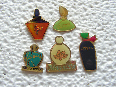 Pin's - Lot de 5 pin's PARFUM - Parfums , parfumeur