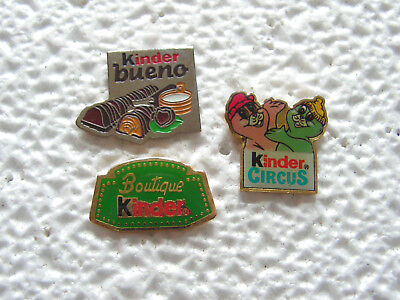 Pin's - Lot de 3 pin's KINDER - Bonbon , chocolat , alimentation