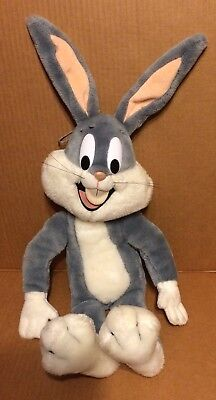 "Bugs Bunny Looney Tunes Plush 50th Birthday Talking 24K Electronic 18"" 1990 WB"