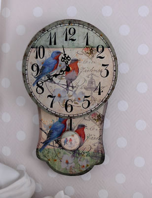 Kitchen Timer Vintage Clock Country Style Wall Pendulum Children's Watch