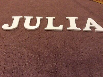 Large wooden wall letters JULIA
