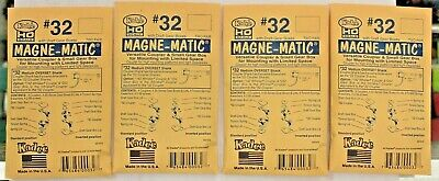 Lot of 4 Packs - HO Scale KADEE # 32 MAGNE-MATIC Plastic Couplers 2 Pr. per pack