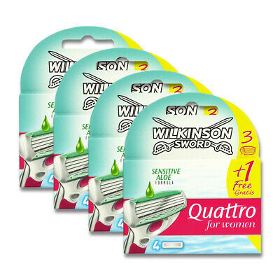 16x Wilkinson Quattro for Women Sensitive Rasierklingen