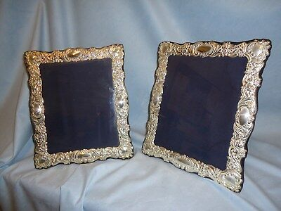 Beautiful Matched Pair of Vintage Silver Picture Frames