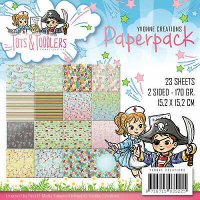 Paperpack - 15,2 x 15,2cm - Yvonne Creations -Tots and Toddlers – 170gr -