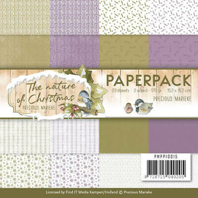 Paperpack - 15,2 x 15,2cm - Precious Marieke – The Nature of Christmas – 170gr -