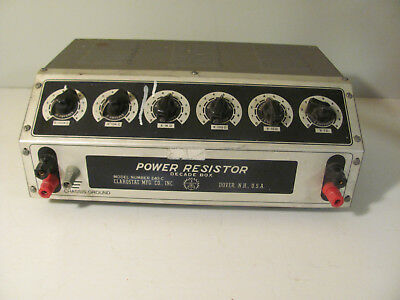 Clarostat 240C Decade Power Resistor Box Untested.