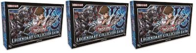 YUGIOH  3 X LEGENDARY COLLECTION BOX KAIBA  SHIPPED 7th MARCH 1ST CLASS RECORDED