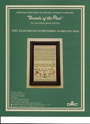 Reproduction Kit~British Antique Sampler~Counted Cross~Hampshire 1826~Linen