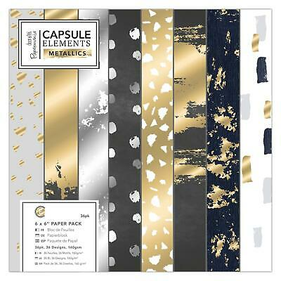 Docrafts Papermania 15 x 15cm Paper Pack (36 Blatt) - Capsule Collection - Eleme