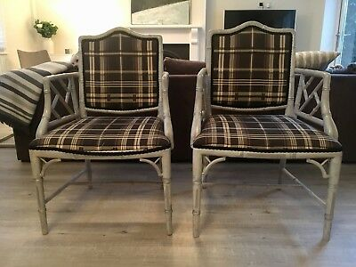 Pair Of Fabulous Bamboo Arm Chairs