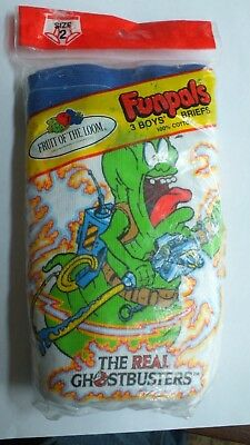 Vintage Funpals'' The Real Ghostbusters'' 3 Boys  Briefs Fruit Of The Loom