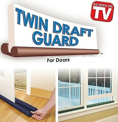 Double 80cm Twin Sided Draught Stopper Door Easy Fit Draft Guard Excluder Winter
