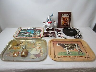 Hershey's Chocolate Mixed Lot Souvenirs Promo Items Recipe Book Toys Metal Trays