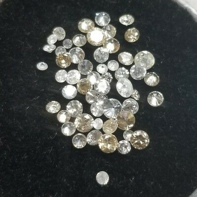 Lot Of 1.39 Ctw Melee White Diamonds From Scrap Nice Lot! {Ml1600}