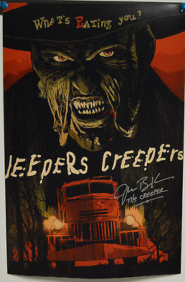 JONATHAN BRECK signed Jeepers Creepers 12x18 Photograph auto CREEPER Poster A