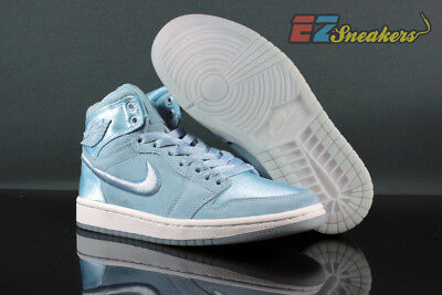 more photos 23a18 f4f5e WOMENS AIR JORDAN 1 Retro High Soh Hydrogen Blue White Ao1847-445 New Size:  8