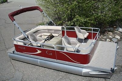 New 18 ft  pontoon boat with four stroke motor and trailer.--   Factory Direct