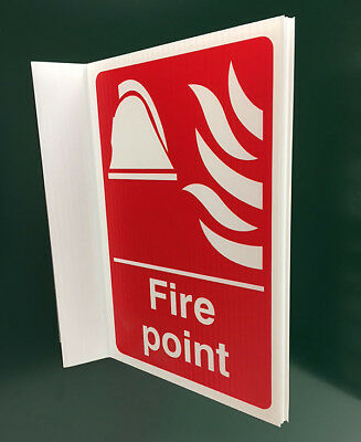 500x300mm Fire Point Projecting Sign