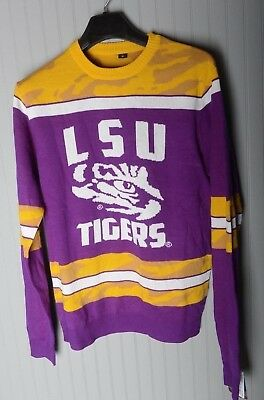NFL Ugly Christmas Sweater LSU Tigers Medium Football Louisiana State University