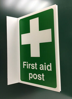 500x300mm First Aid Post Projecting Sign - 04353P