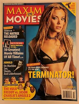 Maxim Goes To Movies Magazine Superdeluxe Collector's Edition #1 Kristanna Loken