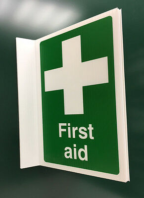 500x300mm First Aid Projecting Sign - 04351P