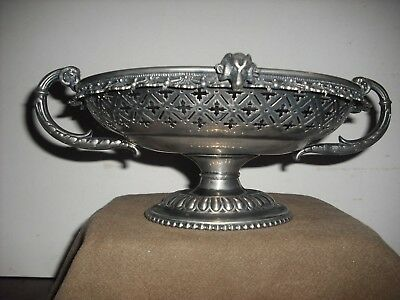 Vintage Rogers Smith Rams Head Silver Plate Compote