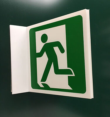 Fire Exit Logo Projecting Sign (man left)