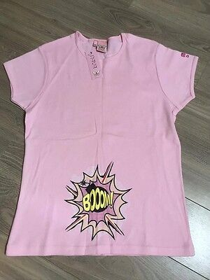 "Babu - Made With Love Baby Pink S/s Cotton ""Boom"" Graphic Maternity Tshirt M/l"