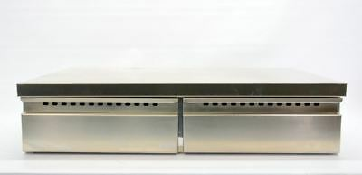 Double Espresso Coffee Knockbox Stainless Steel Pull Out Knock Box Two 2 Drawer