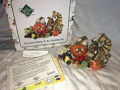 "Charming Tails ""WE HAVE PLENTY TO BE THANKFUL FOR"" DEAN GRIFF THANKSGIVING NIB"