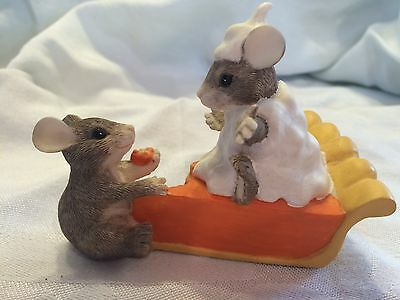 "Charming Tails ""PUMPKIN PIE""  SILVESTRI MOUSE FALL AUTUMN SIGNED NIB"
