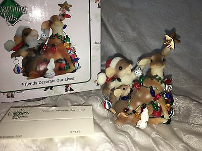 "Charming Tails ""FRIENDS DECORATE OUR LIVES"" DEAN GRIFF CHRISTMAS REINDEER NIB"