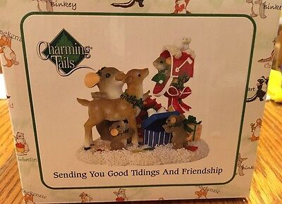 "Charming Tails ""SENDING YOU GOOD TIDINGS"" DEAN GRIFF CHRISTMAS REINDEER NIB"