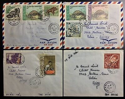 Laos Lao Cover Vientiane France Germany Letter