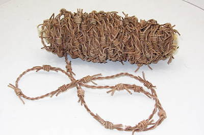 Leather barb wire, 10 yards of natural color made with 2 mm leather cord, 01082