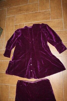 Victorian boys purple velvet shorts jacket MUSEUM RARE