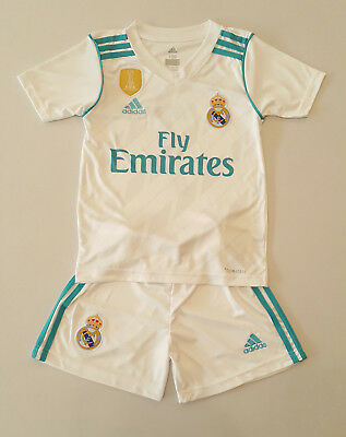 Real Madrid Home Kinder Trikot Set, 2017/18, Nr. 7, Neu