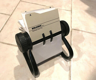 """Rolodex Metal Rotary Business Card File - 2-5/8"""" x 4"""" Card Cap."""