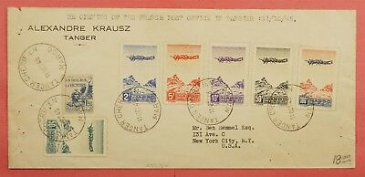1945 French Morroco Airmails On Cover 1St Day Opening Post Office After Wwii
