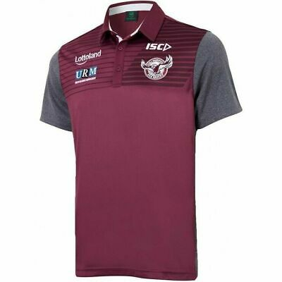 Manly Sea Eagles NRL 2018 Players Maroon Sublimated Polo Sizes S-5XL! In Stock!