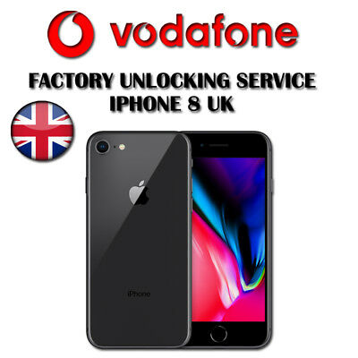 Vodafone UK Factory Unlock Service For iPhone 4 4S 5 5S 6 6S 7 7+ 8 & 8+