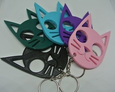 Cute Cat Self Defense Personal Defense keychain Girlfriend Daughter Mom Gift