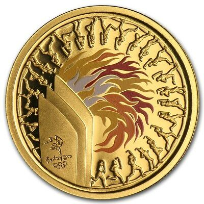 """2000 Sydney Olympic $100 Gold Proof Coin """"Flame"""""""